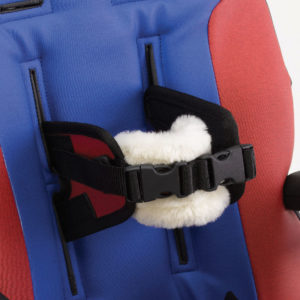 mid-line support harness with sheepskin pad
