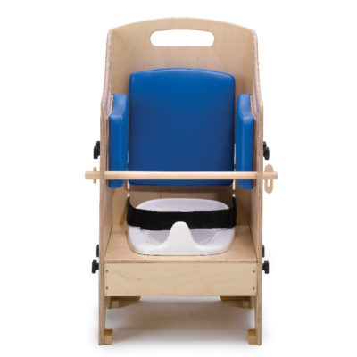 toggle handrail for folding potty chair